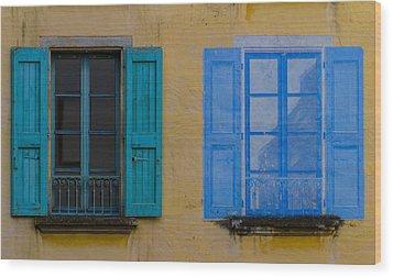 Windows Wood Print by Debra and Dave Vanderlaan