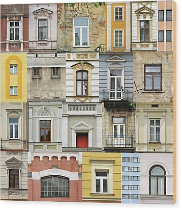 Windows Wood Print by Jaroslaw Grudzinski