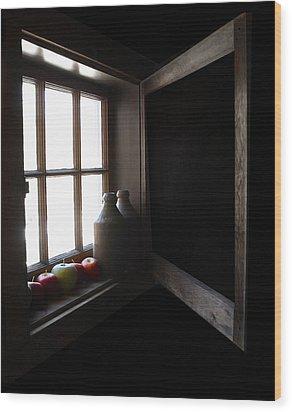 Wood Print featuring the photograph Windowsill by Raymond Earley