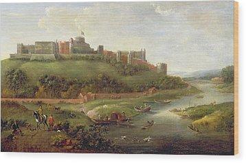 Windsor Castle Wood Print by Hendrick Danckerts