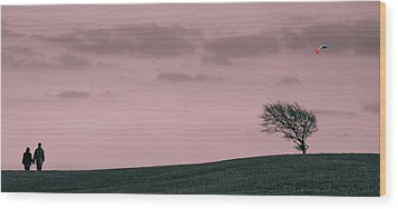 Wood Print featuring the photograph Windswept by Justin Albrecht
