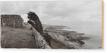Windswept Machrihanish Wood Print by Jan W Faul