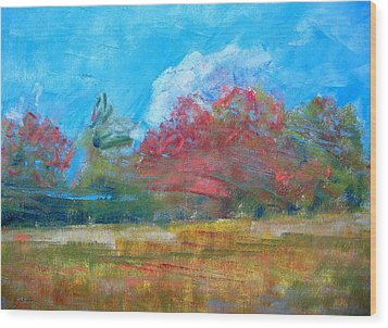 Windy Day Wood Print by Lisa Dionne