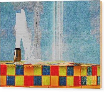 Windy Fountain  Wood Print by John King