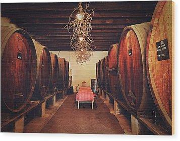 Wine Cellar Wood Print by Benjamin Matthijs