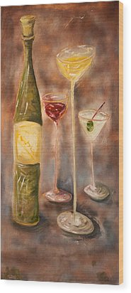 Wine Or Martini? Wood Print