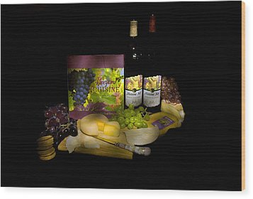 Wine Time Wood Print by Stan Williams