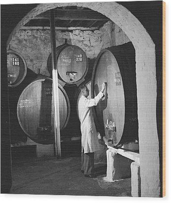Wine Vaults Wood Print by Ejor