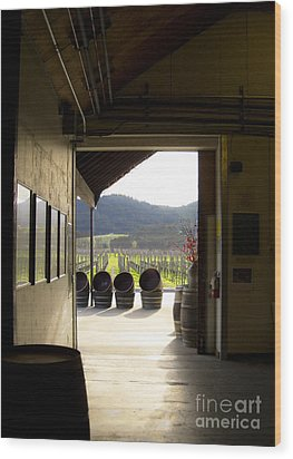 Wood Print featuring the photograph Wineries by Leslie Hunziker