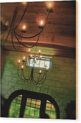 Winery Ceiling Wood Print by Amber Hennessey
