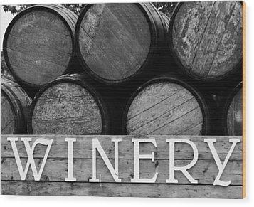 Winery  Wood Print by Meagan  Visser