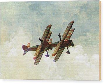 Wing Walkers Wood Print by Jacqui Kilcoyne