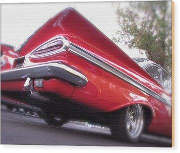 Winged Impala Wood Print by Terry Zeyen