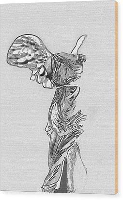 Winged Victory Of Samothrace Wood Print by Manolis Tsantakis