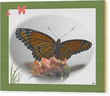 Wings Of Beauty Wood Print by Debra     Vatalaro