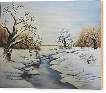 Winter 2011 Wood Print by Maris Sherwood