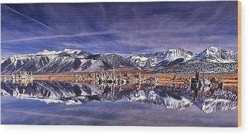 Winter Around The Lake Wood Print by Thomas Born