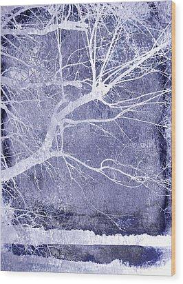 Winter Blues Wood Print by Ann Powell