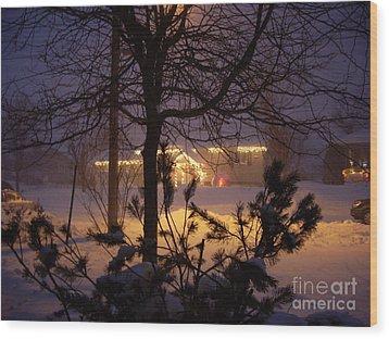 Winter Charm Wood Print by Kathleen Pio