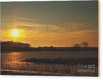 Winter Country Sunset Wood Print by Joel Witmeyer
