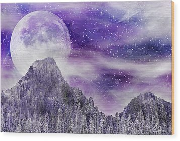 Winter Dreamscape Wood Print by Anthony Citro