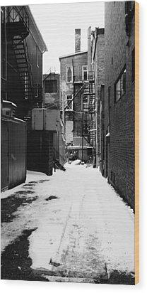 Winter Escape Wood Print by Jonathan Bateman