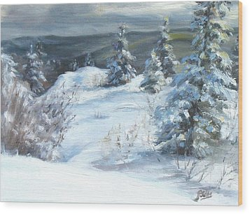 Winter Escape Wood Print by Patricia Seitz