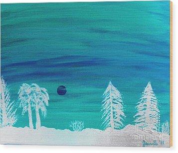 Winter Glow Wood Print by Jeannie Atwater Jordan Allen