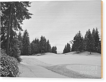 Winter Golf Course  2 Wood Print by Tanya  Searcy