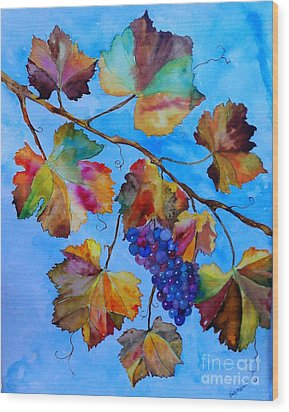 Winter Grapes Wood Print by Fred Meehan
