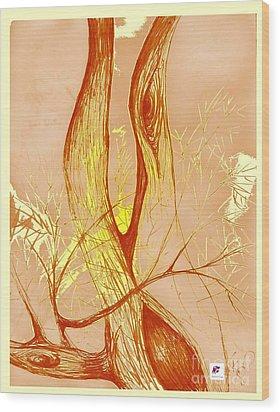 Winter Greenlake Tree 3 Wood Print