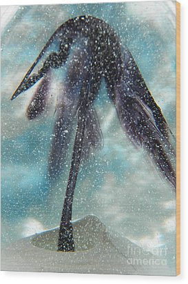 Winter In Blown Glass Wood Print by Judy Via-Wolff
