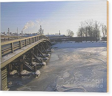 Winter In Peterburg Wood Print