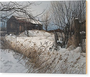 Winter In Prince Edward County Wood Print