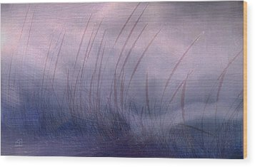Wood Print featuring the painting Winter Long Grass by Jean Moore