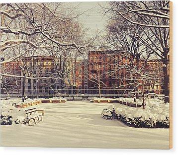 Winter - New York City Wood Print by Vivienne Gucwa