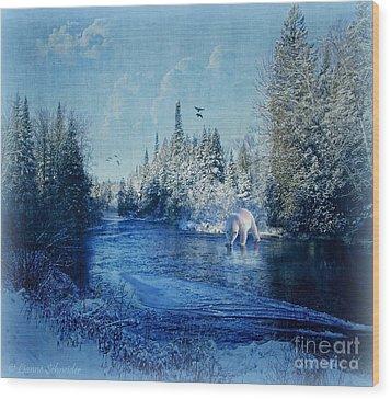 Winter Paradise Wood Print by Lianne Schneider
