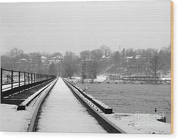 Winter Rails Wood Print by Joel Witmeyer