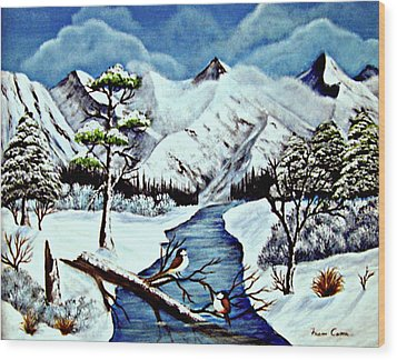 Winter Serenity Wood Print by Fram Cama