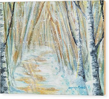 Wood Print featuring the painting Winter by Shana Rowe Jackson
