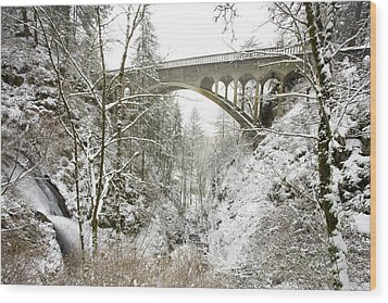 Winter, Shepperds Dell, Columbia River Wood Print by Craig Tuttle