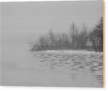 Winter Shore Wood Print by Odd Jeppesen