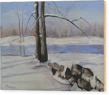 Winter Solace Wood Print