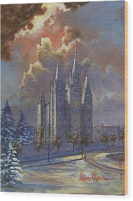 Winter Solace Wood Print by Jeff Brimley