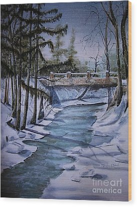 Winter Solitude Wood Print by Marylyn Wiedmaier