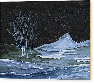 Winter Solstice Wood Print by Brenda Owen