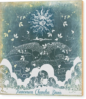 Winter Solstice Wood Print by Sacred  Muse