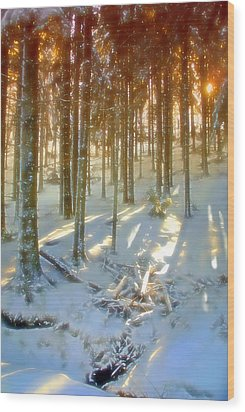 Wood Print featuring the photograph Winter Sunset by Rod Jones