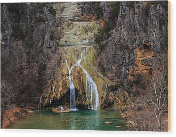 Winter Time At The Falls Wood Print by Doug Long