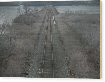 Wood Print featuring the photograph Winter Tracks  by Neal Eslinger